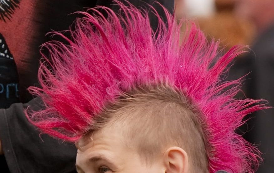 pink Mohawk hair style