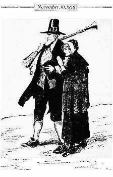 Puritan farmer and wife